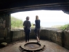 Nikkie Dahm and Inge Tranter inside the newly cleaned bunker number 57